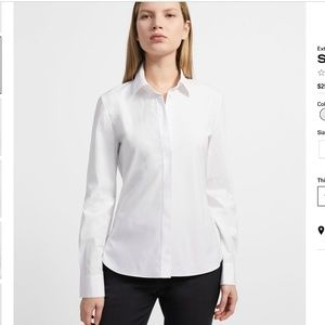 Theory Classic Fitted Shirt  Size Small NWT